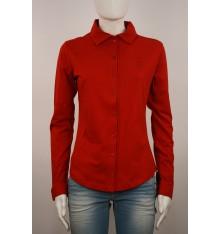 Maglia fatta a  camicia estiva  rossa