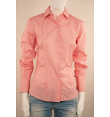 Camicia donna bianca quadri e pois  rossi