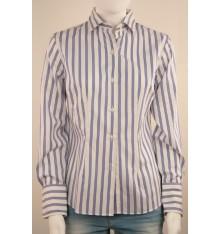Camicia donna bianca tre  righe blu