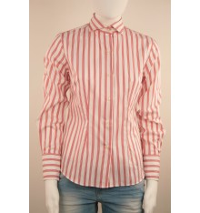 Camicia donna bianca tre  righe  rosse
