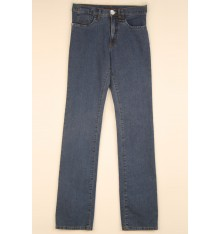 Jeans cinque tasche targa argento