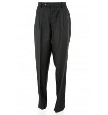 Pantaloni uomo con pinces grigio antracite