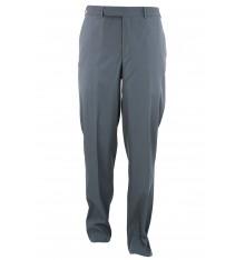 Pantaloni senza pinces grigio quattro tasche