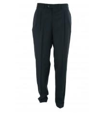 Pantaloni con pinces e risvolto quattro tasche