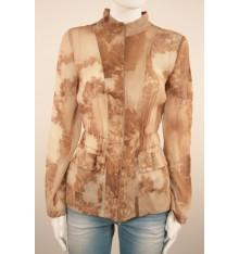 Camicia donna con zip e due tasche