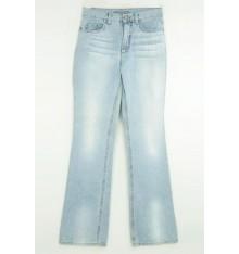 Jeans chiaro  cinque tasche targa beige