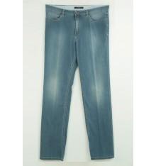 Jeans cinque tasche targa cuoio e swarovscki