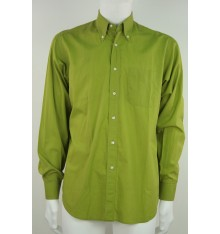 Camicia button down confort  tinta unita  verde