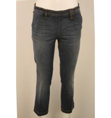 Jeans scuro modello capri quattro  tasche