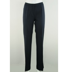 Pantaloni estivi classici senza tasche blu