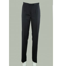 Pantaloni estivi classici senza tasche lana e seta