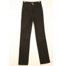 Jeans cinque tasche targa marrone