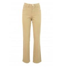 Jeans cinque tasche primaverili targa cuoio