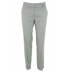 Pantaloni estivi classici  con risvolto grigio chiaro