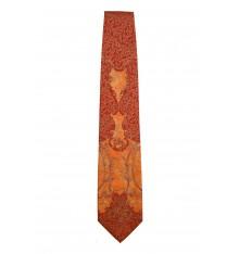Cravatta classica seta bordeaux arancio oro