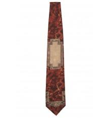 Cravatta classica seta bordeaux fantasia