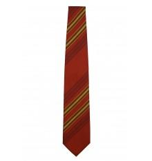 Cravatta seta classica righe mattone