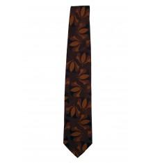 Cravatta seta classica marrone con campane