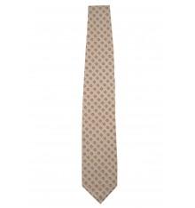 Cravatta seta classica grigio chiaro a quadri
