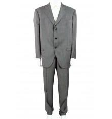 Completo gessato grigio chiaro giacca tre bottoni
