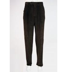 Pantaloni classici uomo due pinces a coste verde