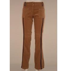 Jeans velluto a coste bicolore