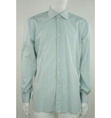Camicia basico azzurra riga verde chiaro