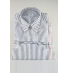 Camicia con taschino button down a righe