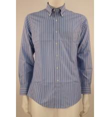 Camicia button down azzurra righe bicolore