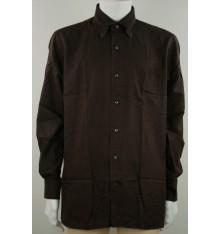 Camicia  invernale button down confort marrone