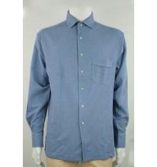 Camicia invernale tinta unita basico con taschino