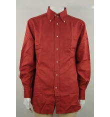 Camicia rossa con taschino confort button down