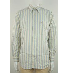 Camicia righe bicolore confort button down