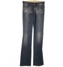Jeans quattro tasche profilate in alcantara