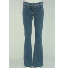 Jeans con inserto tessuto nella cintura