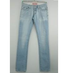 Jeans chiaro strappato cinque tasche