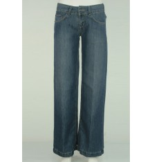 Jeans gamba a palazzo sette tasche