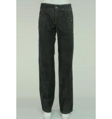 Jeans quattro tasche con pietre nere e swarovscki